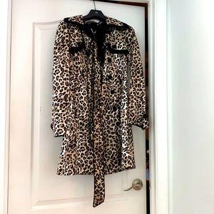 Trench coat cheetah print BeBe